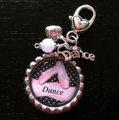 DANCE Personalized BAG TAGS, Zipper Pull, Tap, Charmed, Beaded, Dance Bag, Ballet, Recital Gift, Jazz, Daughter, Granddaughter, Niece