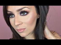 Brown smokey eye makeup tutorial - YouTube