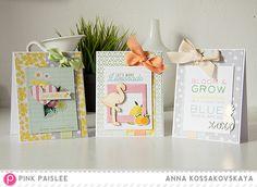 Easy Peasy Lemon Squeezy. Bright (FAST!) cards @pinkpaislee @akossakovskaya #pinkpaislee #ppCitrusBliss #scrapbooking #diy