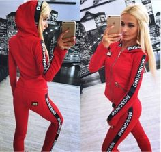 MOSCHINO TRACKSUIT RED via Tillys. Click on the image to see more!