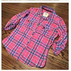 Abercrombie -- plaid top Plaid -- button down Abercrombie & Fitch Tops Button Down Shirts