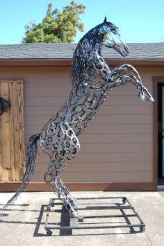 made w/ horseshoes