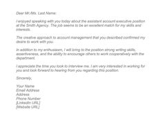 Valid Sample Thank You Letter After Interview Via Email Free Letter Tempate LetterBuis.