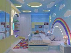 Children's room ceiling decoration Cool Kids Bedrooms, Kids Bedroom Designs, Baby Room Design, Kids Rooms, House Ceiling Design, Bedroom False Ceiling Design, Childrens Bedroom Decor, Home Decor Bedroom, Room Partition Designs