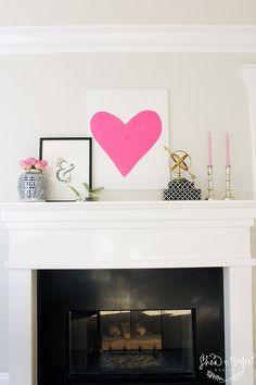 Valentine's Mantel Decor || Shea McGee Design