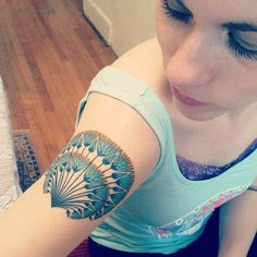Egyptian lotus flower tat