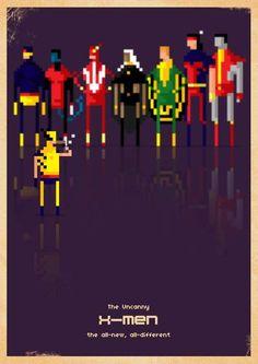 Paulo Capdeville Renders Comic Book Favorites Using Chunky Blocks #superheroes trendhunter.com