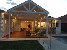 The deck of our Hamptons inspired home. Designed by Amity Dry and built by Scott Salisbury Homes.