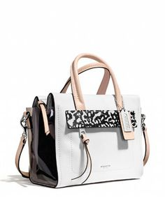 cdf62cf2e1ad Coach Bleecker Mini Riley Carryall in Mixed Media in White - Avenue K  Luxury Bags