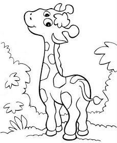 Dibujos Infantiles Imagenes Cristianas Jirafa Para Colorear