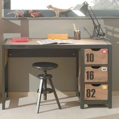 Office Computer Desk Childrens Bedroom Furniture Industrial Writing Table Wooden