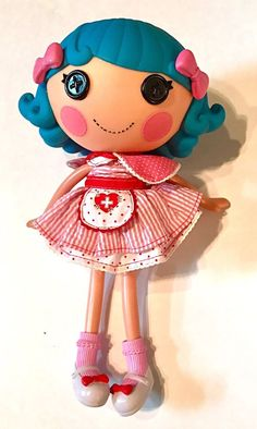 "This super cute Lalaloopsy Rosy Bumps & Bruises doll is full size - 12 inches tall. Comes with doll, shoes and nurse dress. For children 4 years old and up! Pet not included. 12"" tall Head is 5"" wide (6.5"" including hair) Body is 8"" tall USPS Priority Flat Rate Shipping! Thanks for looking! Check out my other items! 