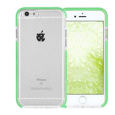 iPhone 7 Case, FYY[Patent Shockproof][Military Material] Ultra Slim Fit Hybrid Clear Bumper Case Soft Silicone Gel Rubber Shockproof Impact Resistance Cover for iPhone 7 Mint Green