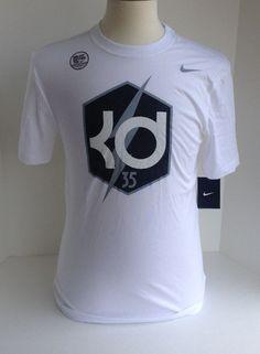 c60c7831 New Nike mens KD 35 Kevin Durant Dri Fit tee shirt tshirt S M XL XXL White