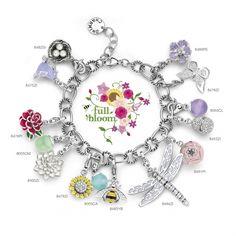 Charming by Ti Sento bracelet, full bloom.