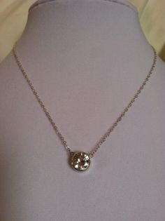 Sterling Silver 10mm CZ Solitaire Necklace -  Valentine by CopperfoxGemsJewelry on Etsy