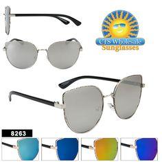 074a52f534 Women s Mirrored Retro Sunglasses - Style  8263 (Assorted Colors) (12 pcs.)  Retro SunglassesMirrored SunglassesWholesale SunglassesReading Glasses