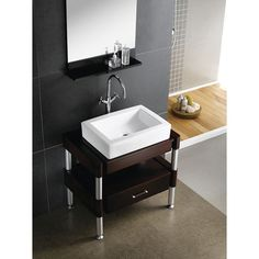 Update your bathroom with this vessel bathroom sink. Featuring a germ- and stain-resistant surface, this sink has a simple, elegant design that is sure to stand out. Its colors make it easy to match, and its sleek design will complement any decor.