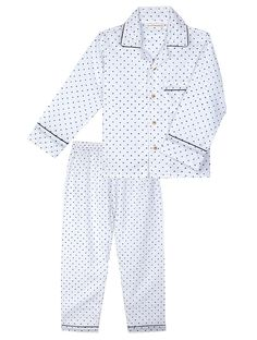 Buy Blue-White Full Sleeve Cotton Night Suit with Polka-print for Boys (Set  of 2) Online 74e8e0270