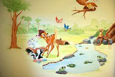 muurschildering bambi - Google zoeken