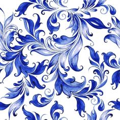 Vector floral watercolor texture pattern with flowers.Seamless pattern can be used for wallpaper,pattern fills,web page background,surface textures Watercolor Texture, Watercolor Flowers, Molduras Vintage, Blue Texture, Blue Pottery, Flowering Vines, Seamless Background, Vector Background, Grafik Design