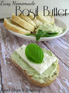 Homemade Basil Butter - so easy and delicious, you'll never settle for regular butter again! #basil #recipes #appetizers