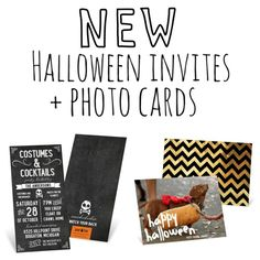 New #Halloween invites and photo cards from #peartreegreetings!