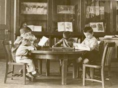 The children's room at a NYPL branch library.