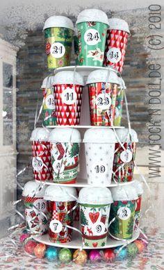 Calendrier de l'avent DIY : des gobelets recyclés