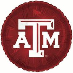 Texas A Aggies 18-inch Round Maroon Foil Balloon $3.50 #TeamTailgateShop