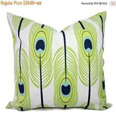 Feather fabric pillow
