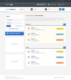 UI / Job board homepage