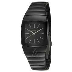 I want this elegant thing Casual Watches, Cool Watches, Patek Philippe Calatrava, Rado, Watches Online, Watch Brands, Black Rubber, Leather Men, Black Women
