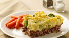 Sandwich mashed potatoes in between meatloaf for a great gluten-free main dish, using Chex® cereal.  Easy and tasty!