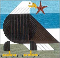 Charley Harper - Star and Stripe   2003