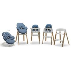 Beautiful, long-lasting Scandinavian design... Stokke Steps seating system grows with baby from newborn to 10yrs of age