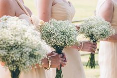 more baby's breath-- I like how it looks on it's own-- and it reminds me of pictures of my mother and father's wedding