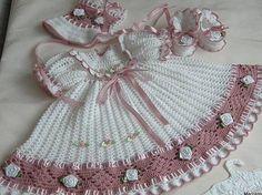 Crochet Christening Gown Set