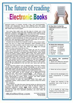 The future of reading - Electronic books (e-books)