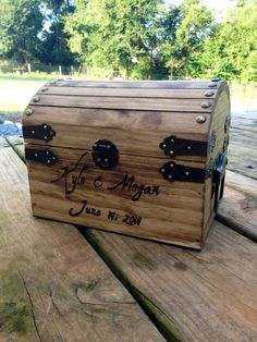 Shabby Chic and Rustic Wooden Card Box  Rustic by CountryBarnBabe, $40.00