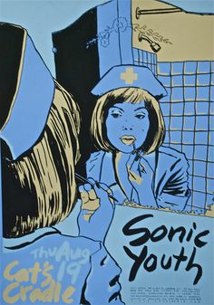 sonic youth poster Rock Posters, Band Posters, Concert Posters, Music Posters, Pearl Jam Posters, Pop Art Illustration, Illustrations, Le Grand Bleu, Pub Decor