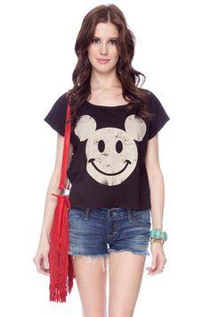 Hey Mickey T-Shirt $11 at www.tobi.com