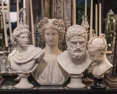 Classically sculptured busts lend a historical dimension to your décor. Beautifully reproduced, they make a refined statement of art appreciation.  http://rogersgardens.com/home-decor/