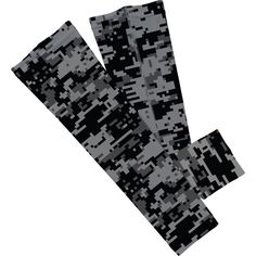 Charcoal Digital Camo or Black Arm Sleeve   2 total Size S/M