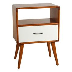 Porthos Home Andrew Mid-Century Side Table, White