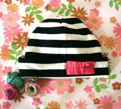 baby hat tutorial from t-shirt