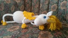 Floppy Pegacorn (Unicorn Pegasus) Amigurumi Crochet Pattern
