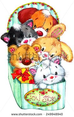 Find Funny Teddy Bear Kitten Puppy Bunny stock images in HD and millions of other royalty-free stock photos, illustrations and vectors in the Shutterstock collection. Tatty Teddy, Teddy Bear, Cute Animal Illustration, Watercolor Illustration, Animal Illustrations, Teddy Images, Baby Animal Drawings, Christmas Scrapbook Layouts, Disney Cartoon Characters