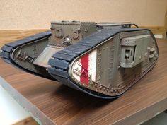 R/C replica WW1 tank 3D printing toy remote control