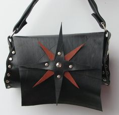 Never lose your way again with our Compass Rose design vegan leather handbag!